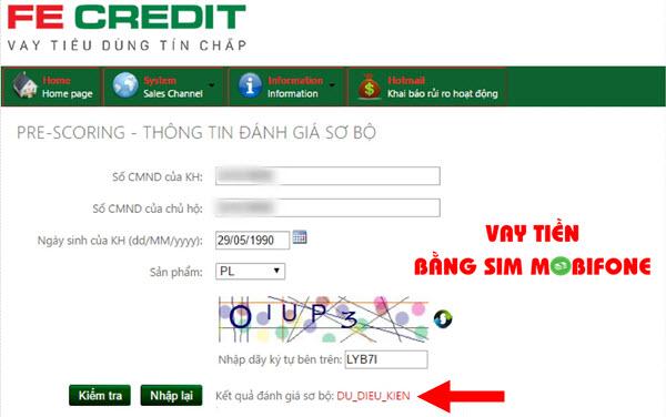 Điều kiện, hồ sơ, lãi suất vay tiền bằng SIM Mobifone